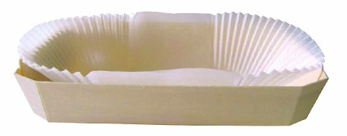 PacknWood Wooden Baking Mold, Baking Liner Included, 30 oz. Capacity (Case of 100) by PacknWood