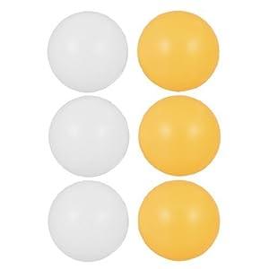, weiß, Orange, 39 mm Durchmesser, Tischtennisbälle, Ping Pong-Bälle, 6 Stück
