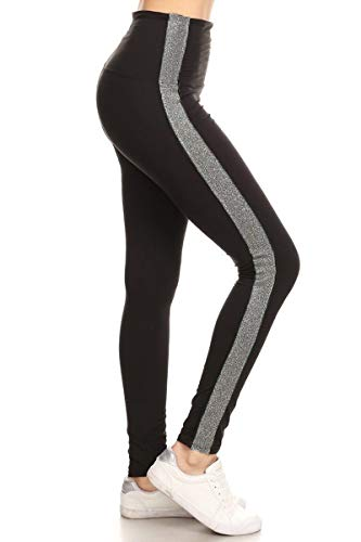 LT88-BLACK-OS Motion Black Yoga Leggings, One Size