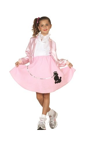 RG Costumes 50's Pink Lady Jacket, Child Small/Size (50s Pink Poodle Girls Costumes)