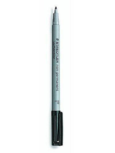Staedtler Lumocolor Non-Permanent Overhead Projection Markers black fine 0.6 mm each [PACK OF 2 ]