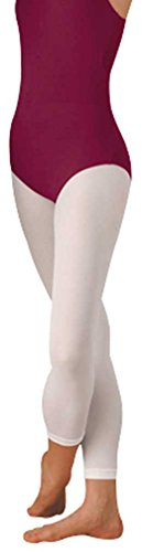 Body Wrappers Footless Tights, White, Small/Medium