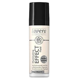 lavera Illuminating Effect Fluid-Sheer Bronze 02- Fluide crème Ultraléger ∙ Extrait de perle Cosmétiques naturels Make up Ingrédients végétaux bio 100% Naturel Maquillage (30 ml)