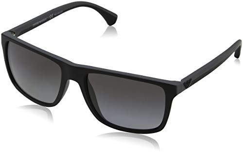Emporio Armani Men's 0EA4033 Black/Grey Rubber/Polar Grey Gradient ()