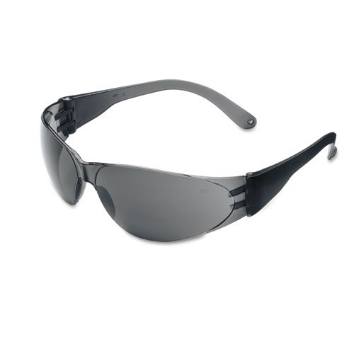 Crews Checklite Scratch-Resistant Safety Glasses, Gray Lens - Includes 12 per box.