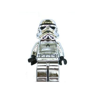 Lego Stormtrooper Chrome Silver Star Wars 2 Inch Minifigure: Toys & Games