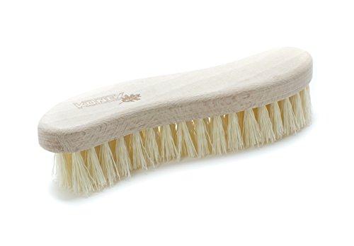 Konex Fiber Economy Utility Cleaning Brush. Heavy Duty Scrub Brush With Wood Handle. (S-shaped)
