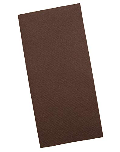 Brown Napkins | Linen Feel Guest Disposable Cloth Like Paper Dinner Napkins | Hand Towels | Soft, Absorbent, Paper Hand Napkins for Kitchen, Bathroom, Parties, Weddings, Dinners Or Events | 50 Pack