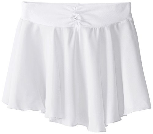Capezio Big Girls' Pull-On Georgette Skirt, White, Medium