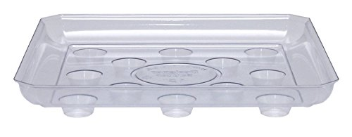 cwp-sqds-1200-heavy-gauge-footed-square-carpet-saver-saucer-12-inch-by-12-inch-clear