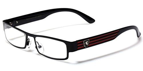 Rectangular Frame Women's Men's Designer Sunglasses Clear Lens RX Optical - Lens Store Online Optical