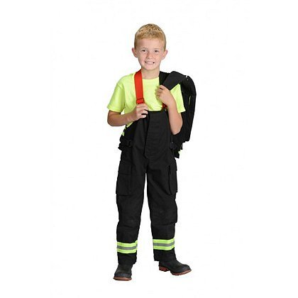 Jr. Fire Fighter Suit with Embroidered Cap, Size 18Month ()