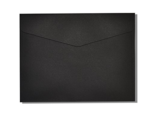 """Golden State Art, Pack of 50, 7-3/4 x 9-3/4 inches Envelope for 5""""x7"""" Paper Photo Folders/Frames/Cards, Black"""