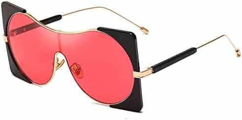 a73e7559d01 MINCL New Women Oversized Square Sunglasses Conjoined Punk Alloy Frame  Gradient Hip Hop Glasses Eyewear