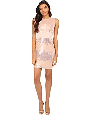 Calvin Klein Womens Sequin Sheath Dress