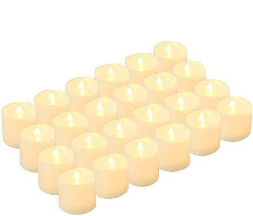 Kohree 24 x Velas LED Realista brillante Parpadeo con pilas sin llama LED que parpadean para hogar festivales decoracion, bodas, interior, exterior, outdoor