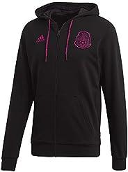 adidas 2020-21 Mexico Full-Zip Hoodie - Black-Pink