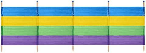 Yello Unisex 5 Dicke Streifen Windschutz, Mehrfarbig, 5 Pole