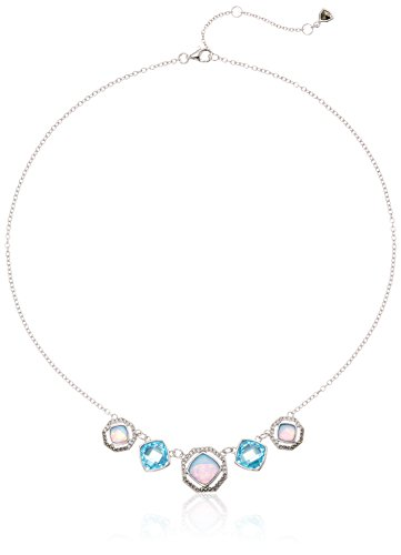 Judith Jack Sterling Silver and Blue Opal Frontal Necklace, 16