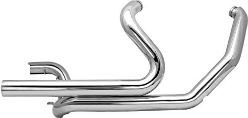 S&S Cycle Power Tune Dual Head Pipes - Chrome Compatible for Harley-Davidson FLT 95-08