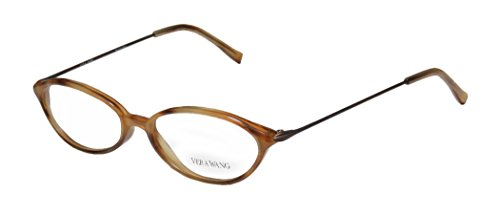 Vera Wang V11 Womens/Ladies Prescription Ready Hip & Chic Designer Full-rim Eyeglasses/Eyeglass Frame (51-16-140, Caramel - Half Eyeglasses Rim