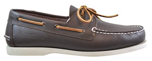 Gander Mountain Mens Deck Leather Boat Shoe  Brown  10