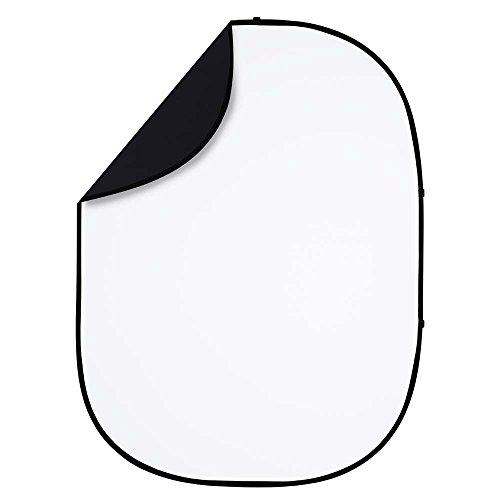 - Interfit PB201 Studio Essentials Collapsible - 5' x 6.5' Pop-Up Reversible Background, Black/White