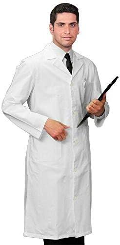 Farmacista da Lavoro Laboratorio in Cotone Cura Farma Camice Bianco Donna Uomo per Medico Originale