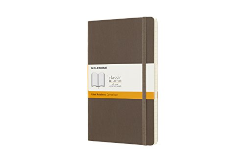 Moleskine Classic Notebook, Large, Ruled, Brown Earth, Soft Cover (5 x 8.25) by Moleskine