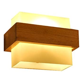 Amazon.com: LED Solid Wood Wall Lamp Japanese Simple Creative Modern ...