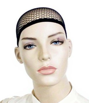 Chopmall(TM) 3 Pack Open end Black Mesh Net Wig Cap Liner