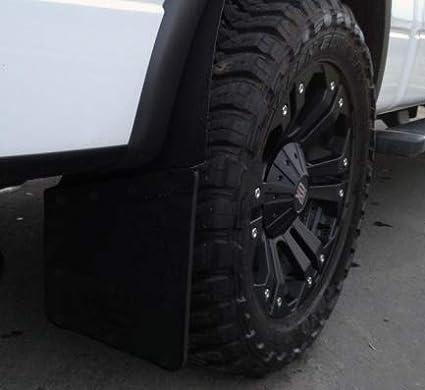 REAR 2PCS 12 Rubber /& S//S Kick Back Mud Flap
