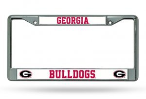 Georgia Ncaa Bulldogs University (NCAA Georgia Bulldogs Chrome Plate Frame)