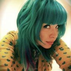 Bleach London Sea Punk Semi Permanent Hair Colour Green Blue Hair