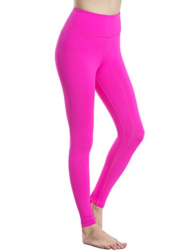 EKOUAER - Leggings para mujer, cintura alta, entrenamiento, yoga rojo