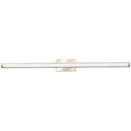 Lithonia Lighting Contemporary Arrow 3K LED Vanity Light, 4-Foot, Brushed Nickel