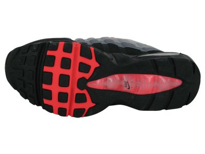 Nike Air Max 95 Mens Löparskor [609.048-106] Hite / Solar Röd-neutrala Grå-medel Grå Mens Skor 609.048-106 Vit / Sol Röd-neutral Grå-mellangrå