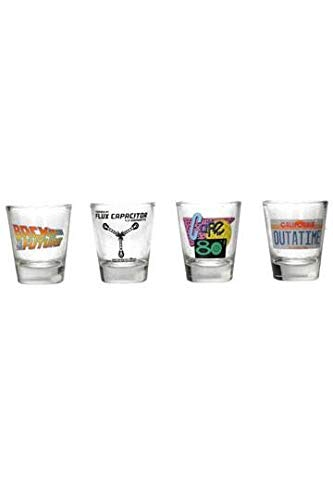 SD Toys SDTUNI20094 Set of 4 Shot Glasses Back to the Future, Glass]()