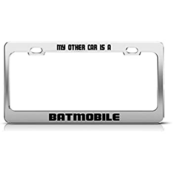 Amazon Com My Other Car Is Batmobile License Plate Frame