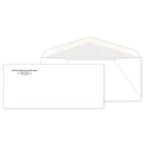 (CheckSimple Personalized #9 Non-Window Return Mailing Envelopes - (500 Envelopes) Custom)