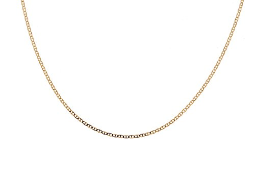 18K Solid Yellow Gold Marina (Mariner) Chain Necklace- Available in Multiple Sizes 16''-30'' (18) by Pori Jewelers