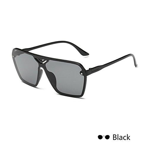 mujer gafas de de espejo Eyewearuv lujo cuadrada Retro400 negro para damas ZHANGYUSEN Vintage sol Negro Gafas hembra de FxqIwnCt05
