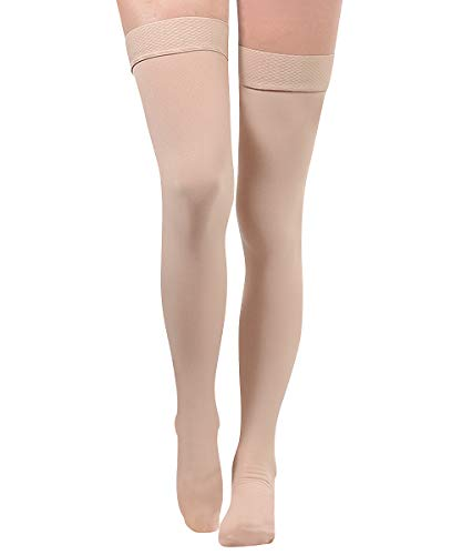 high High Compression Stockings,20-35 mmHg Support,Women & Men Thigh Length Hose,Medical Support Hose Treatment Varicose Veins Swelling