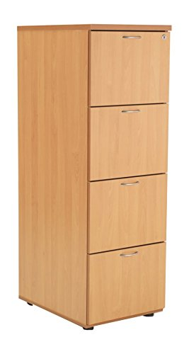 new concept 3601d a53d2 4 Drawer Wood Filing Cabinet in Beech - Smart Office ...