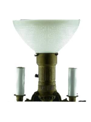 Upgradelights Ten Inch Glass Floor Lamp Reflector Shade with 3 Way Mogal Bulb