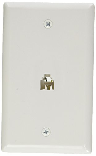 RCA TP247WH Phone Modular Wall Outlet - Modular Wall Outlet Rca