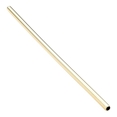 7.5-inch Reusable Stainless Steel Drink Straws: Perfect for Restaurants, Bars, and Cafes - Gold Plated Cocktail Straw - Short, Safe Rounded Design Suitable for Child Use - 2-CT - Restaurantware (Best Infused Vodka For Bloody Marys)