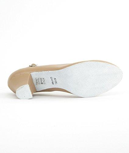 So Danca CH792 mit Ansteck Button Charakterschuhe Damen Latein Salsa Rumba Tanz Schuhe Riemchen Abs. 5 cm Caramel