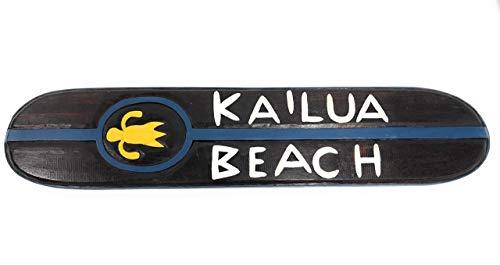(Tikimaster Kailua Beach Wooden Surf Sign w/Honu 40
