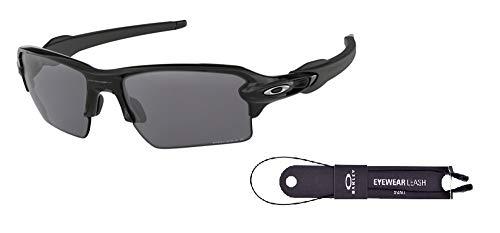 Oakley Flak 2.0 XL OO9188 918872 59M Polished Black/Black Prizm Polarized Sunglasses For Men+BUNDLE with Oakley Accessory Leash ()